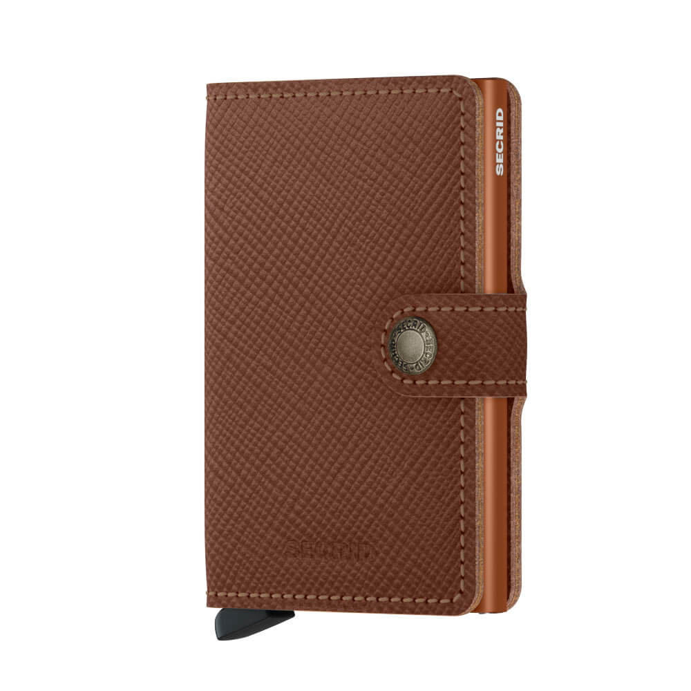 Secrid Mini Wallet Portemonnee Saffiano Caramel