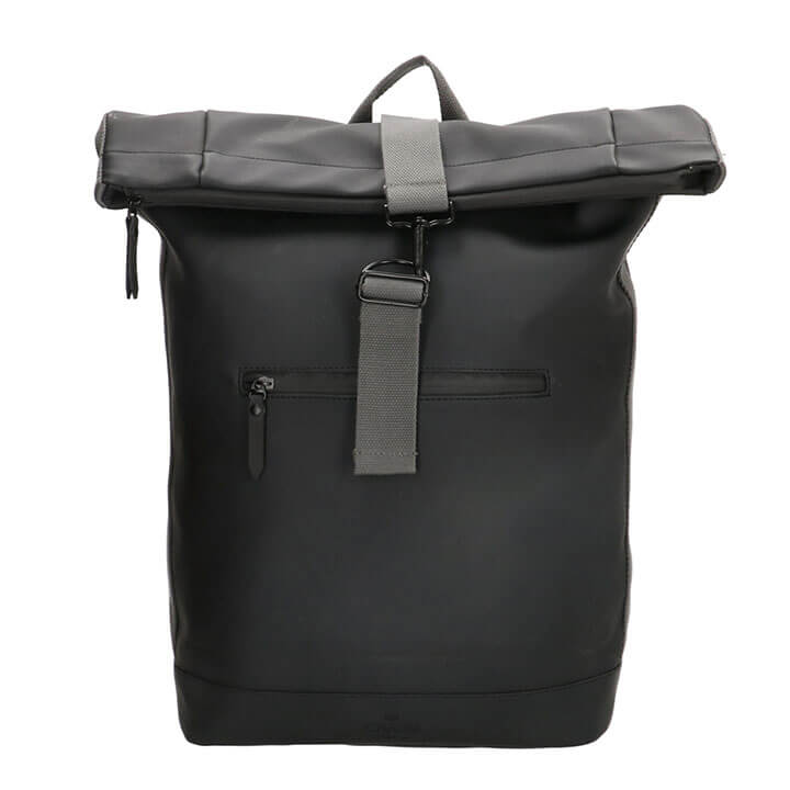Charm London Waterproof Rolltop Rugzak 17.3'' Neville Zwart