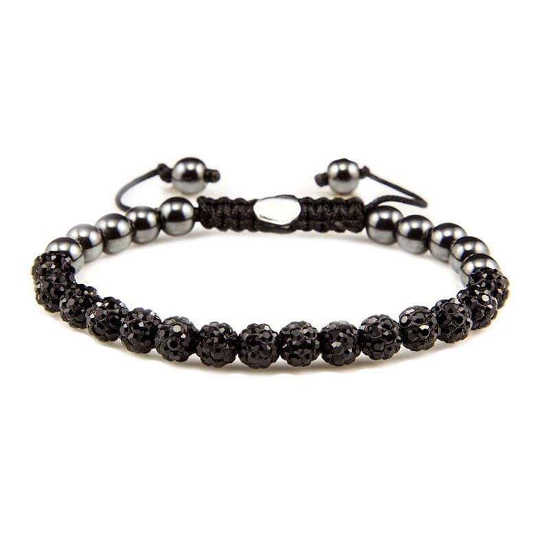 Karma Armband Spiral Full Crystal Black Crystal