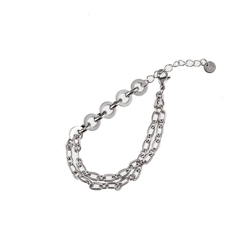Go Dutch Label Chain Armband Zilver