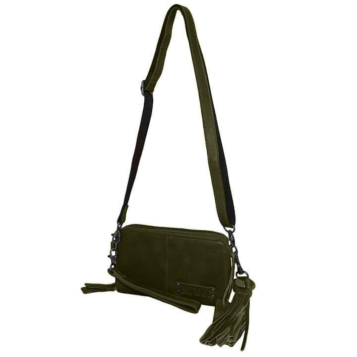 Bag2Bag Schoudertasje / Clutch / Portemonnee Gibson Olijf