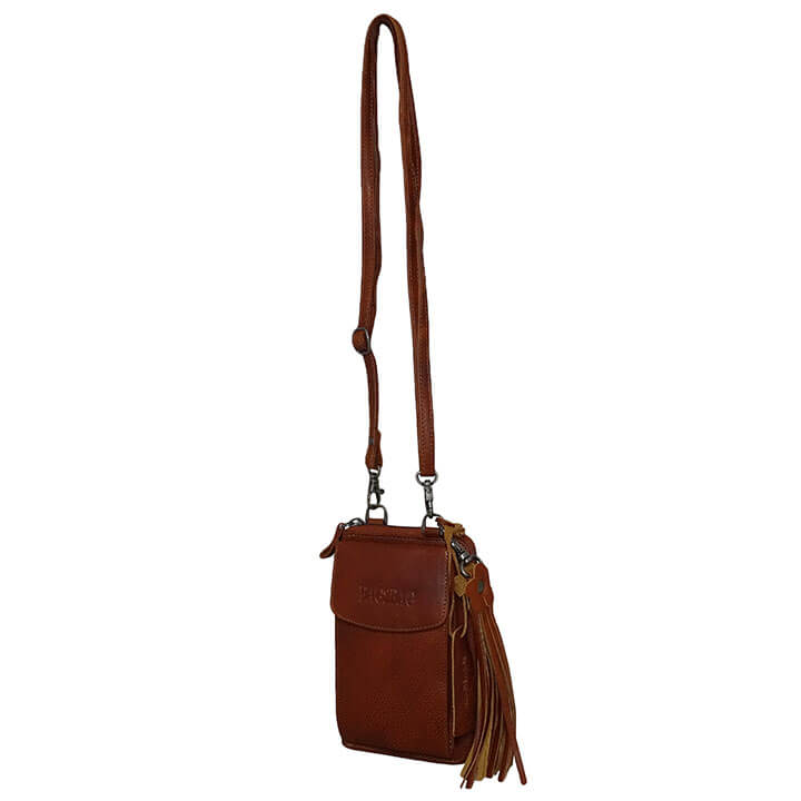 Bag2Bag Schoudertas / Telefoontasje / Portemonnee Tennessee Tan Cognac