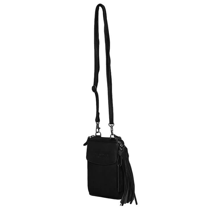 Bag2Bag Schoudertas / Telefoontasje / Portemonnee Tennessee Zwart