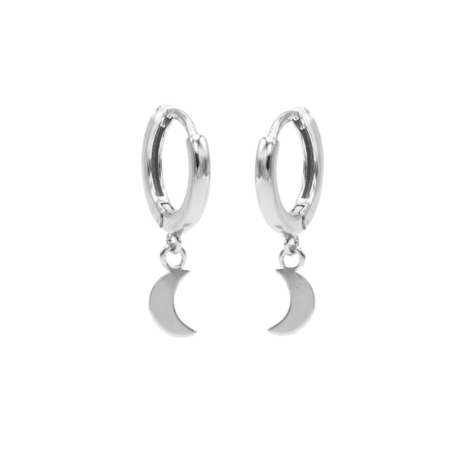Karma Oorringen Hinged Hoops Moon Zilver