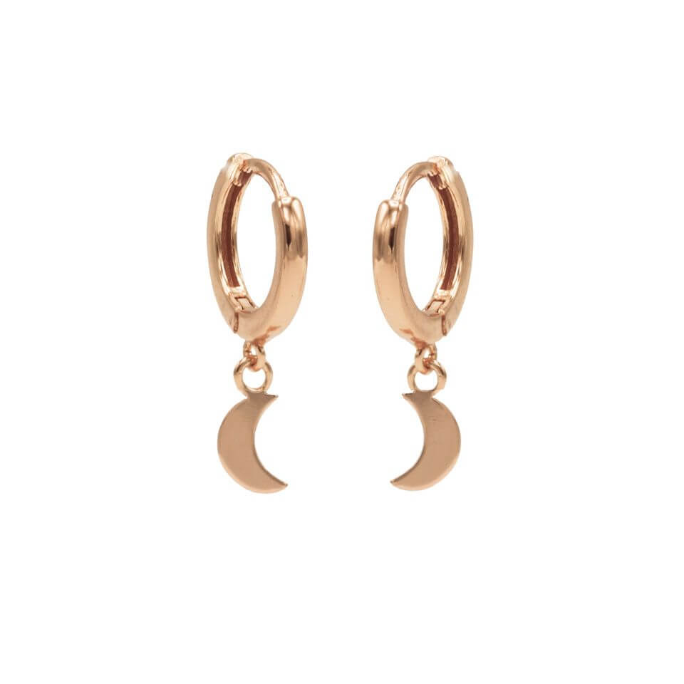 Karma Oorringen Hinged Hoops Moon Rosé