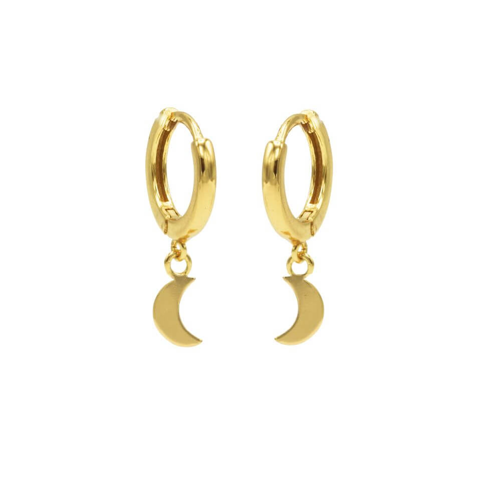 Karma Oorringen Hinged Hoops Moon Goud