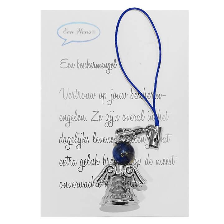 Kleine Beschermengel met Halfedelstenen Hoofdje Lapis Lazuli