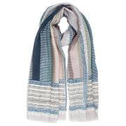 Langwerpige Sjaal Antina Blauw