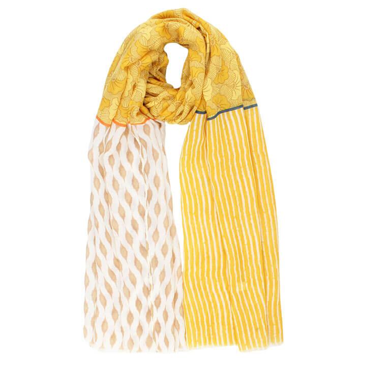 Langwerpige Sjaal Geraldina Geel
