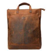 "Leather Design Rugzak 15"" Hunter Bruin"