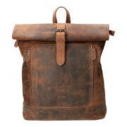 Leather Design Rolltop Rugzak Hunter Bruin