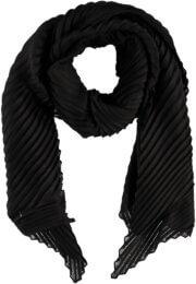 Sarlini Langwerpige Plisse Sjaal Zwart