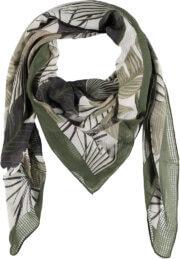 Sarlini Vierkante Sjaal Leaves Khaki