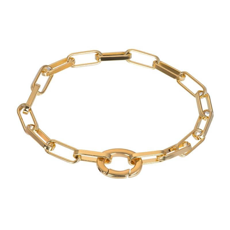iXXXi Schakel Armband Square Chain Goud