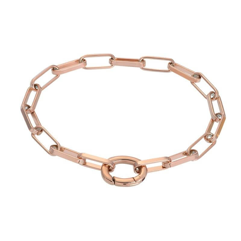 iXXXi Schakel Armband Square Chain Rosé