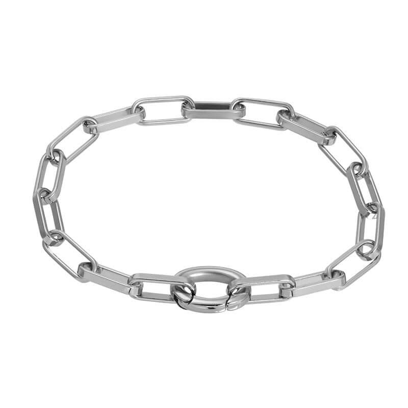 iXXXi Schakel Armband Square Chain Zilver