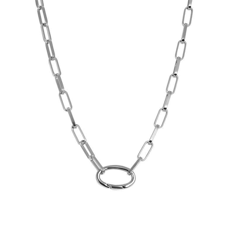 iXXXi Schakel Ketting Square Chain Zilver