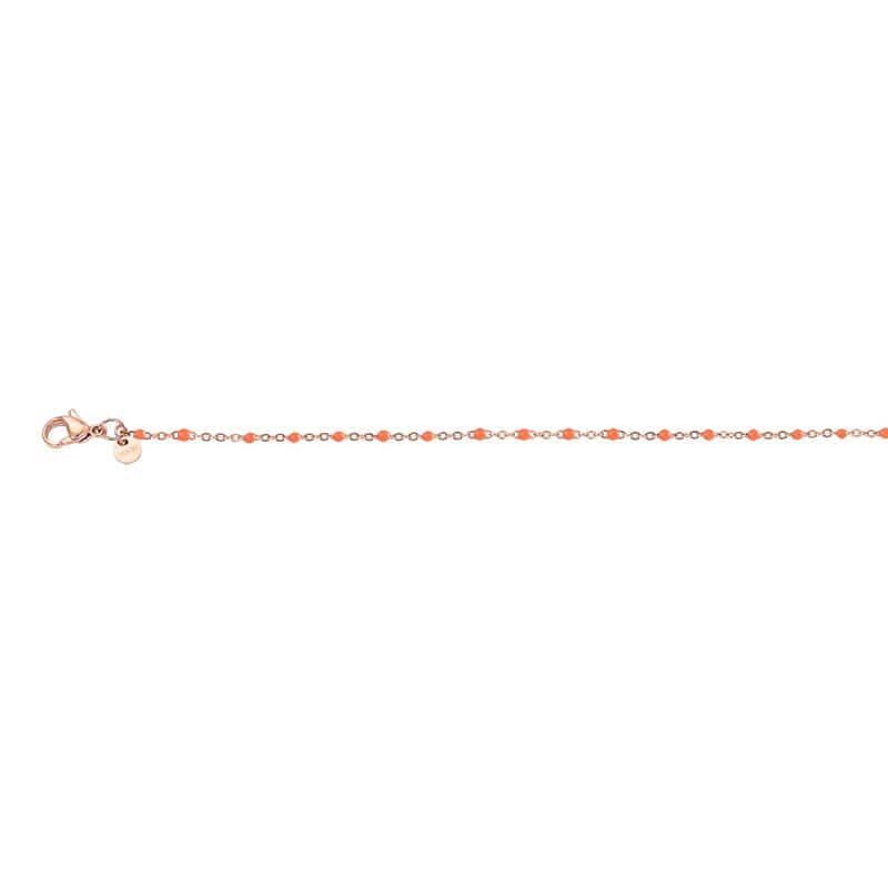 iXXXi Ketting Collier Slim Ball Coral Rosé 45 cm