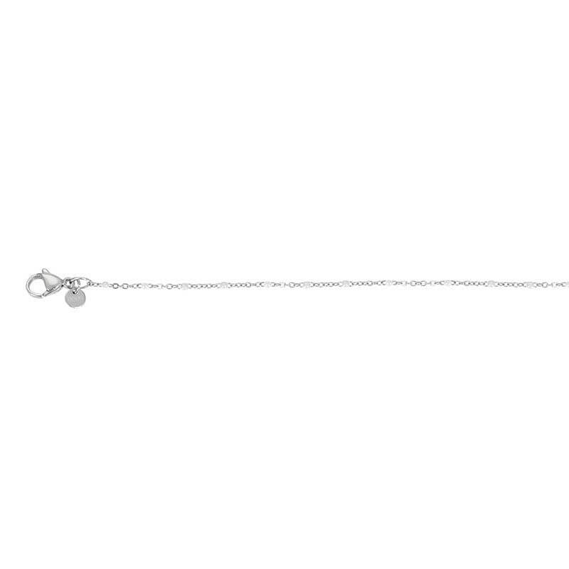iXXXi Ketting Collier Slim Ball White Zilver 45 cm