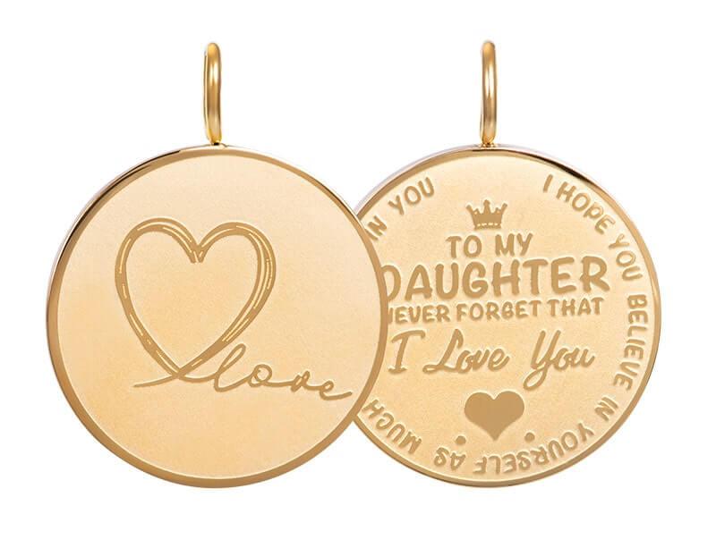 iXXXi Charm Pendant Daughter Love Big Goud
