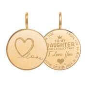 iXXXi Charm Pendant Daughter Love Small Goud
