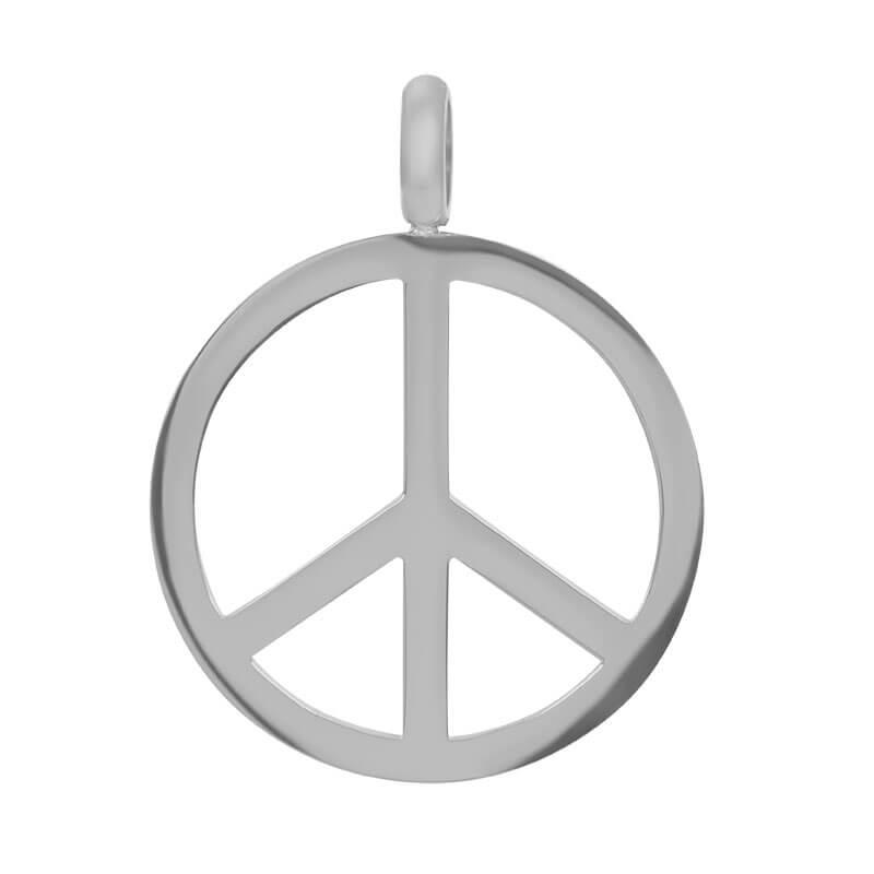 iXXXi Charm Pendant Peace Zilver
