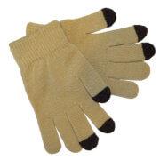 Gebreide Touchscreen Handschoenen Beige