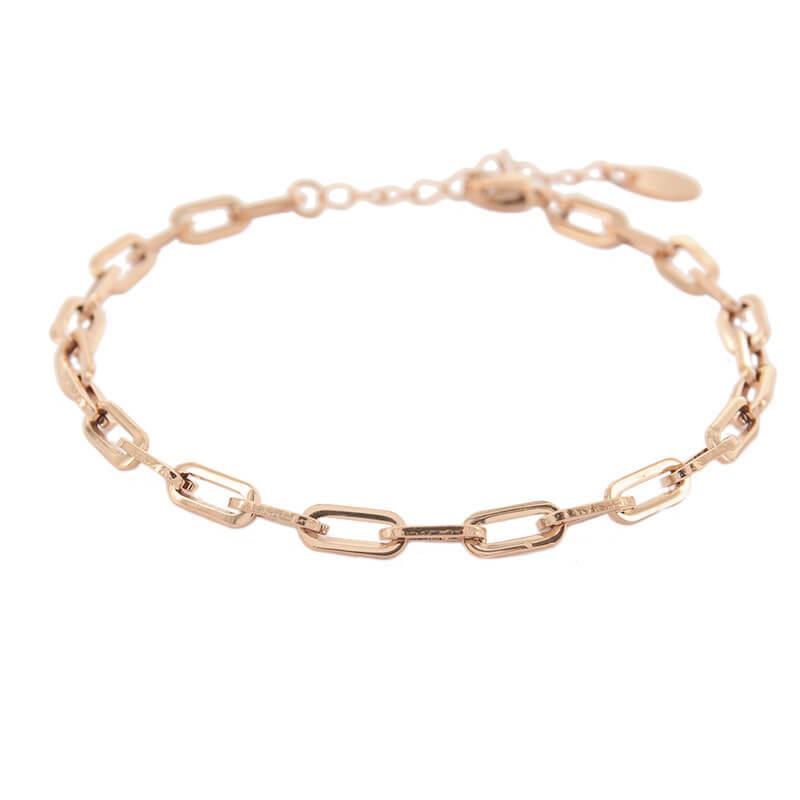 Kalli Schakel Armband Open Rosé | 2608