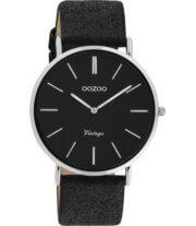 OOZOO Timepieces Horloge Vintage Glitter Zwart   C20153