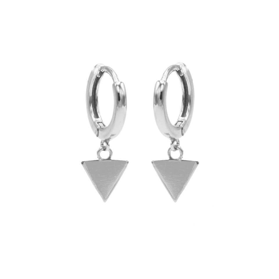 Karma Oorringen Hinged Hoops Triangle Zilver