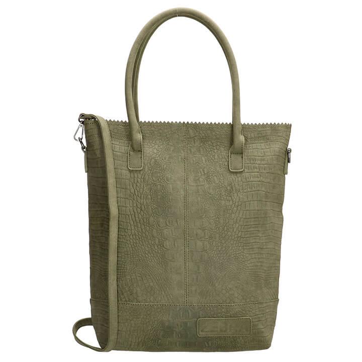 Zebra Trends Shopper met Etui Natural Bag Kartel XL Croco Army