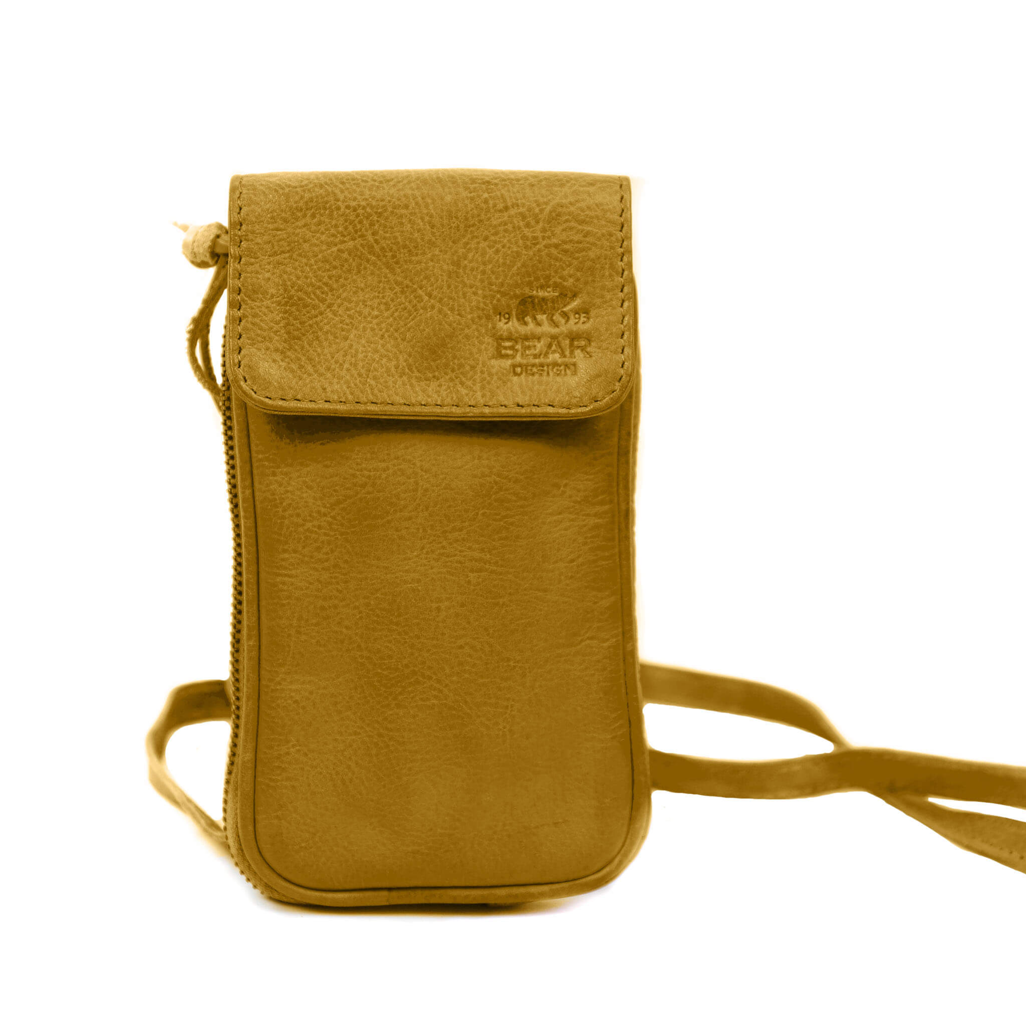 Bear Design Phone Bag Ahana Telefoontasje Geel