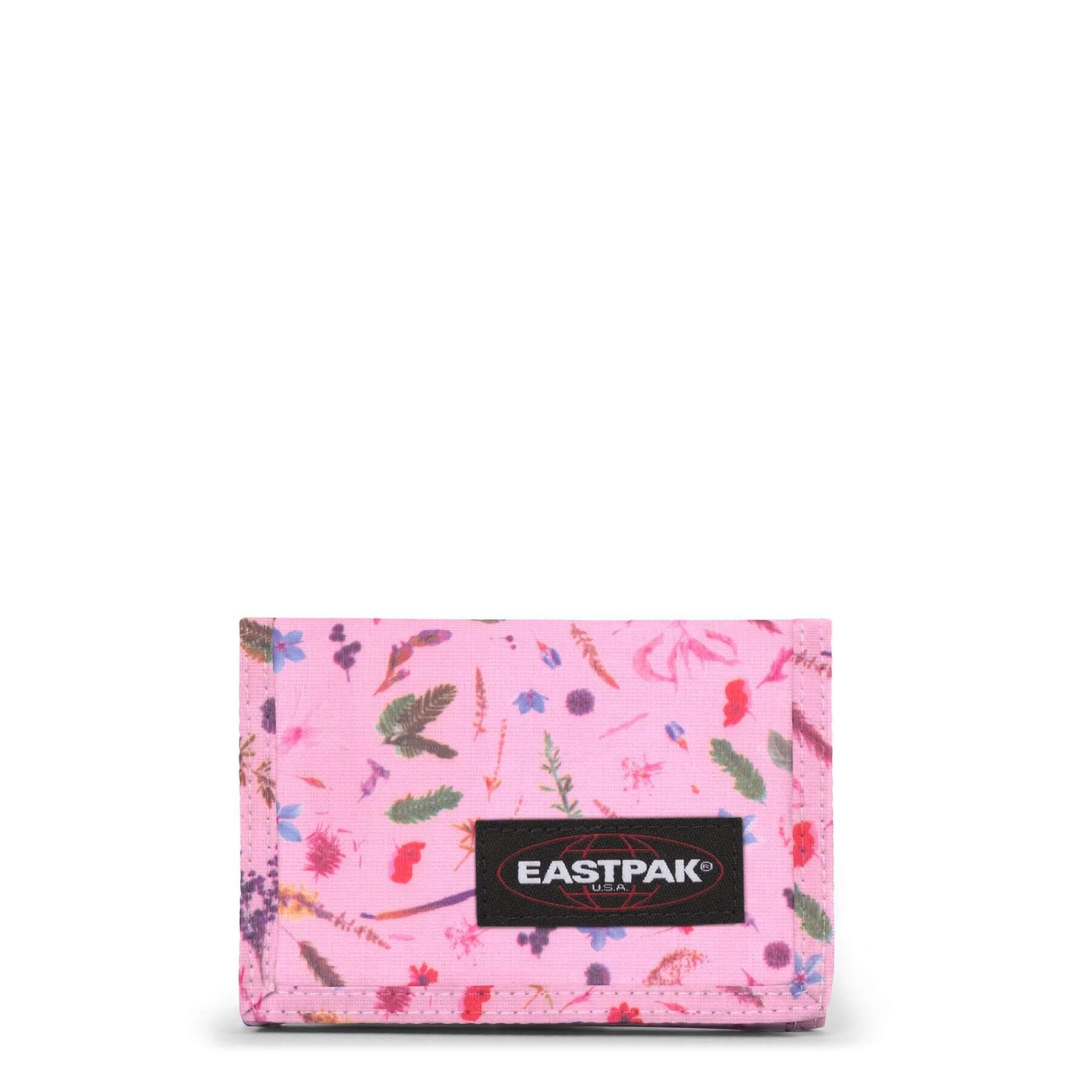 Eastpak Crew Portemonnee met Klittenbandsluitting Herbs Pink