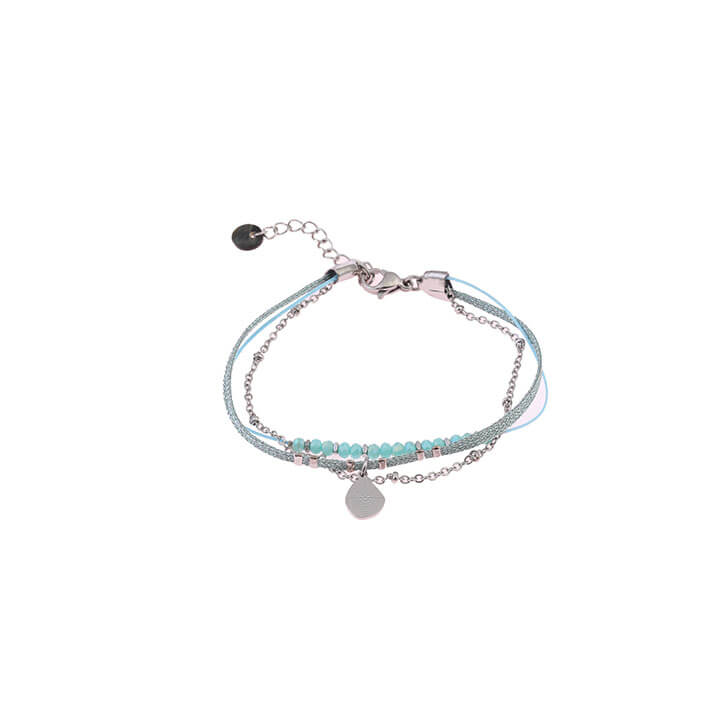 Go Dutch Label Armband 3 Laags Turquoise / Zilver