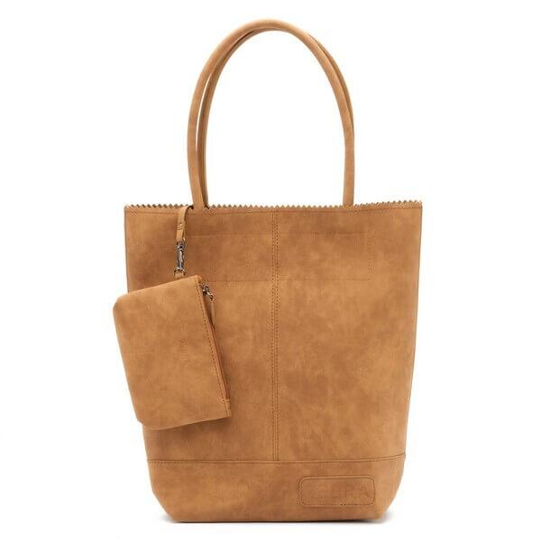 Zebra Trends Shopper met Etui Natural Bag Kartel Fearless II Camel
