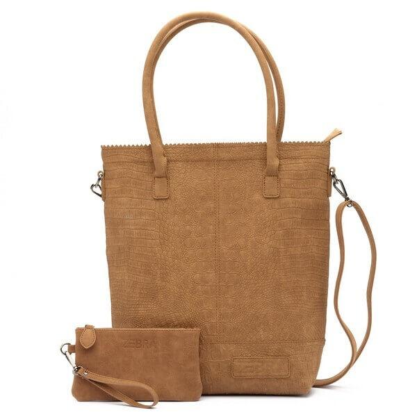 Zebra Trends Shopper met Etui Natural Bag Kartel XL Croco Camel