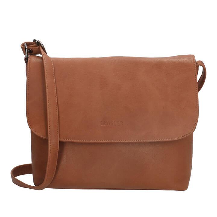 Beagles Leather Overslagtas Santa Lucia Cognac