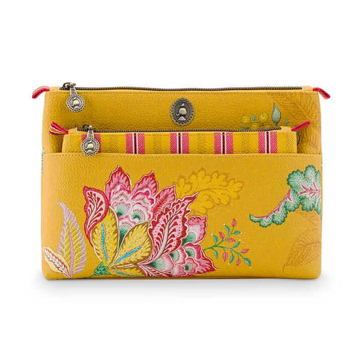 Pip Studio Toilettas Set Cosmetic Bag Jambo Flower Yellow