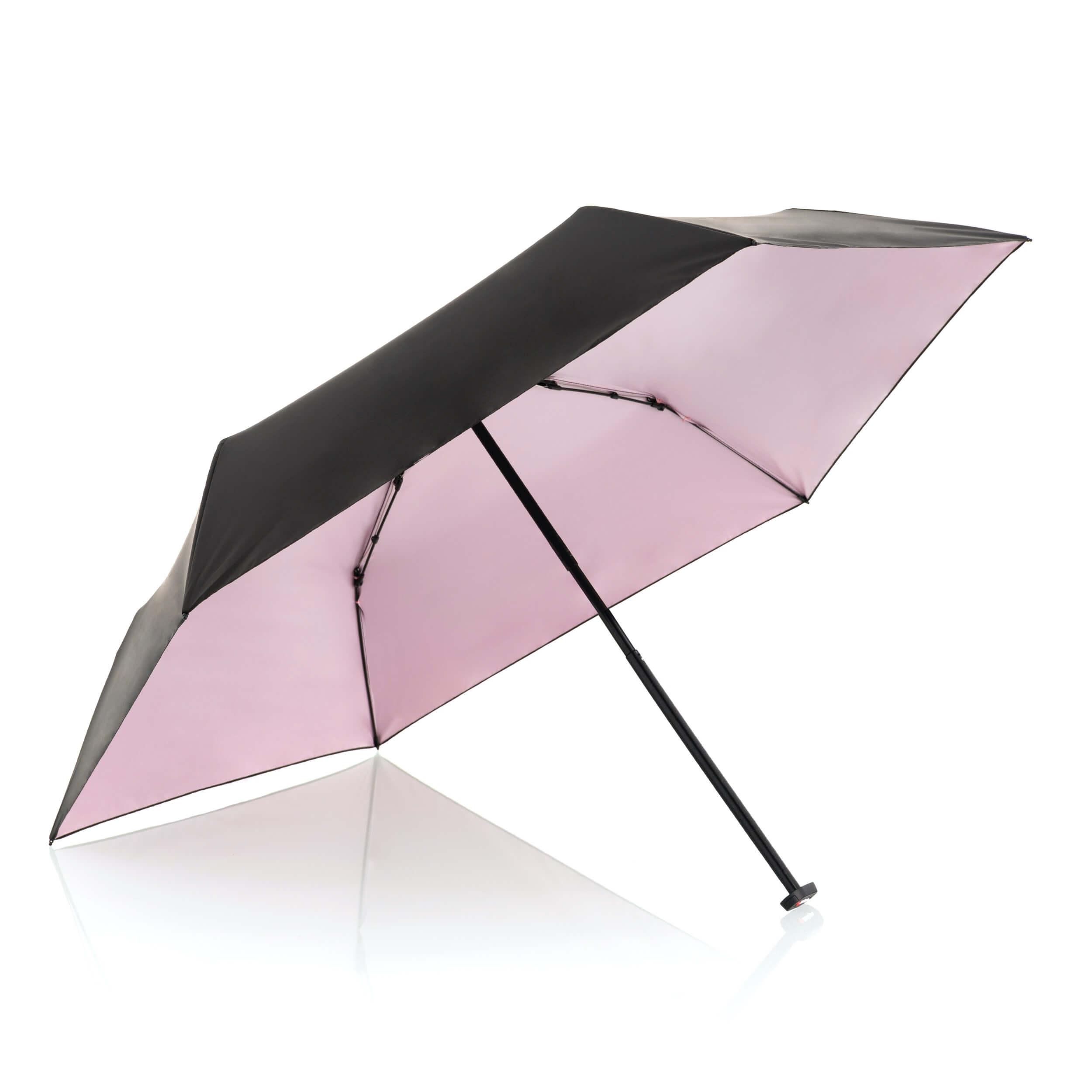 Knirps Paraplu Ultra Light Slim Black with Rosé