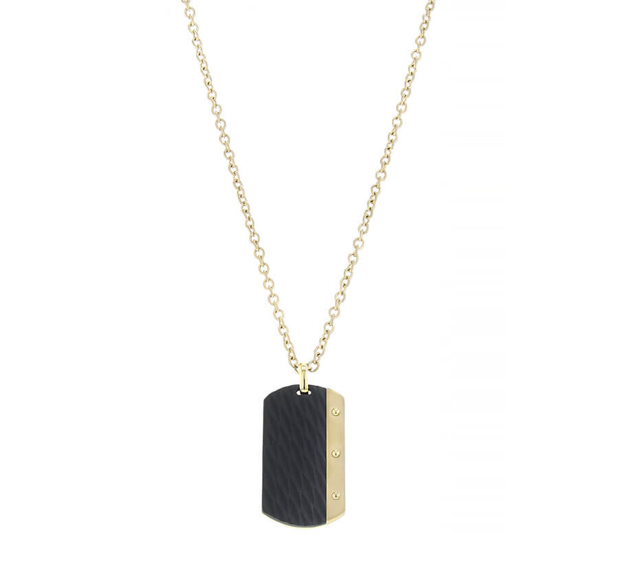 AZE Jewels Ketting Necklace Dogtag Dore
