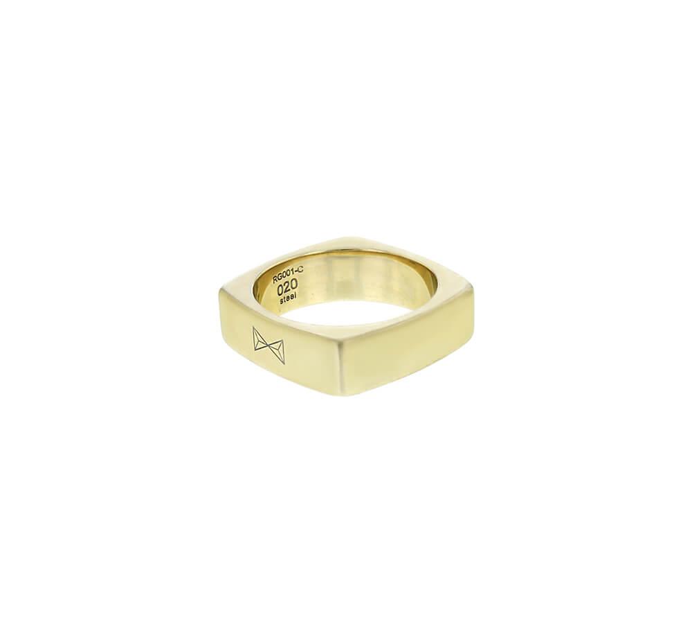 AZE Jewels Ring Carre Dore