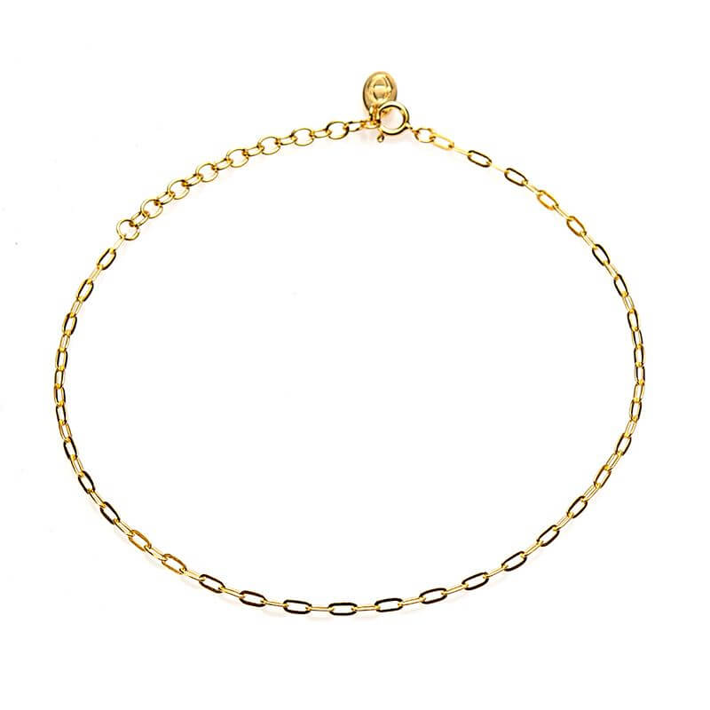 Karma Enkelbandje Oval Chain Goud