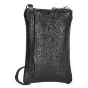 Charm London Phone Bag Elisa Telefoontasje Metallic Zwart