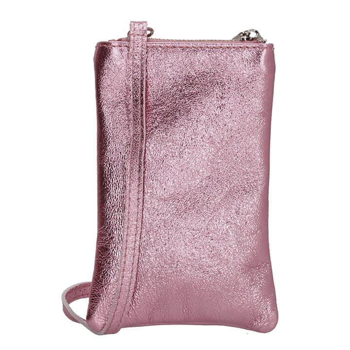 Charm London Phone Bag Elisa Telefoontasje Metallic Roze