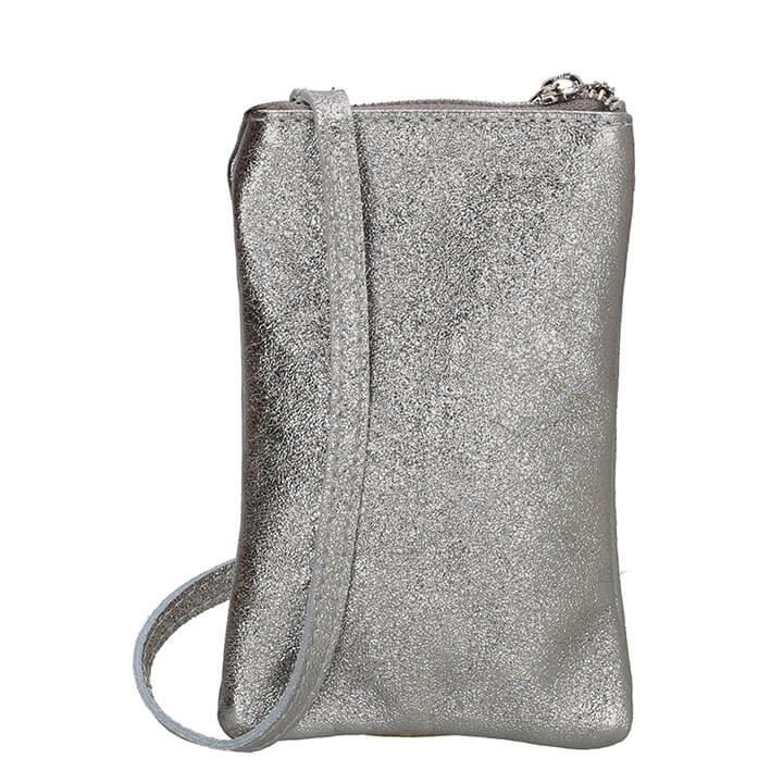 Charm London Phone Bag Elisa Telefoontasje Metallic Zilver