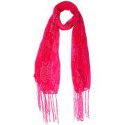 Langwerpige Sjaal met Franjes Butterfly Roze