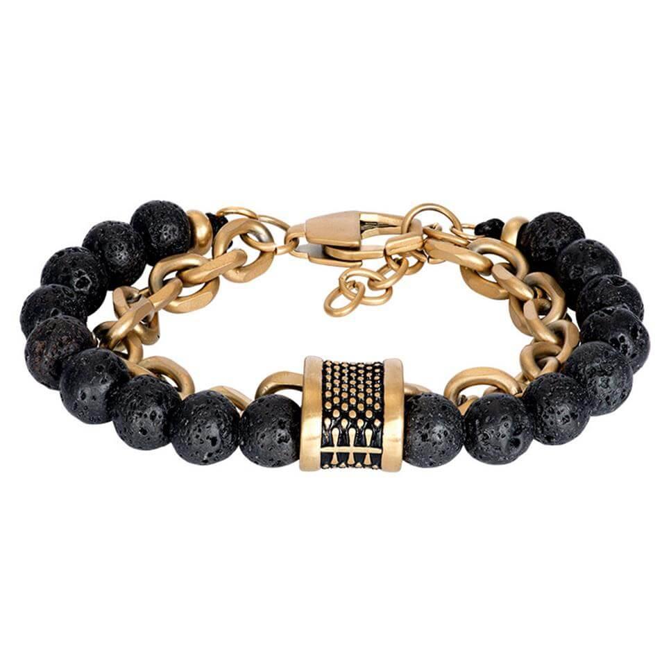 iXXXi Men Armband Kane Mat Goud / Zwart