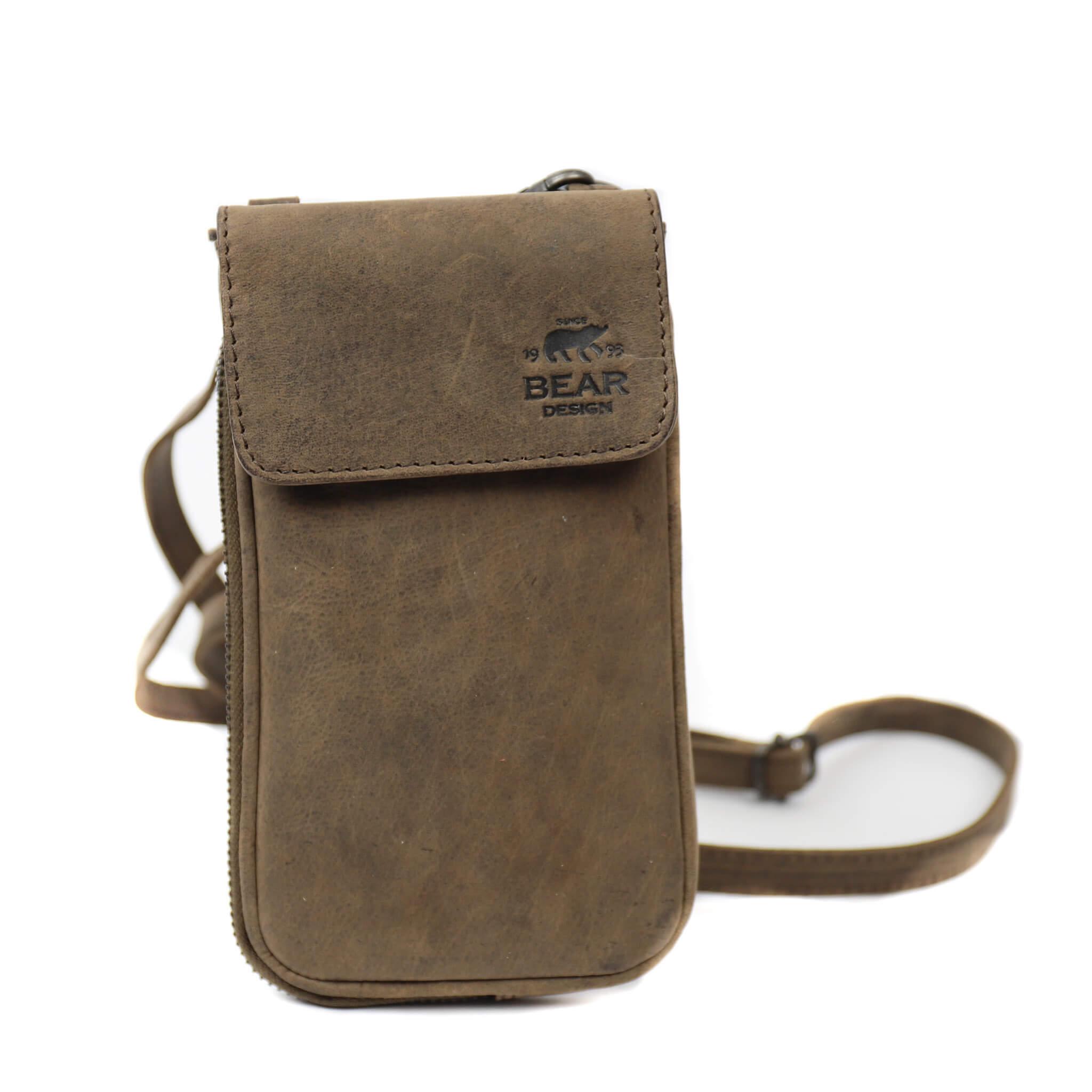 Bear Design Phone Bag Ahana Telefoontasje Donker Bruin