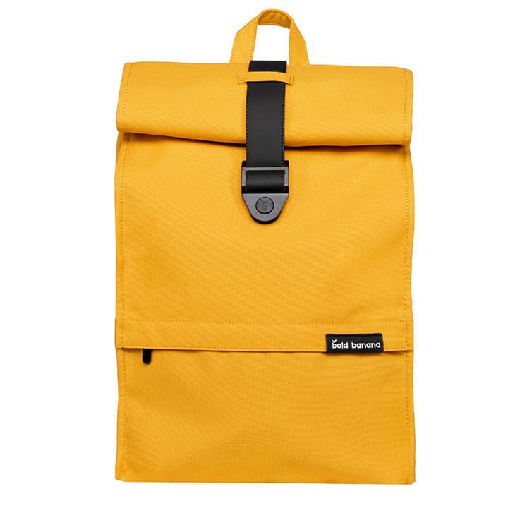 Bold Banana Roll Top Backpack Rugzak 15.6'' Yellow Beetle