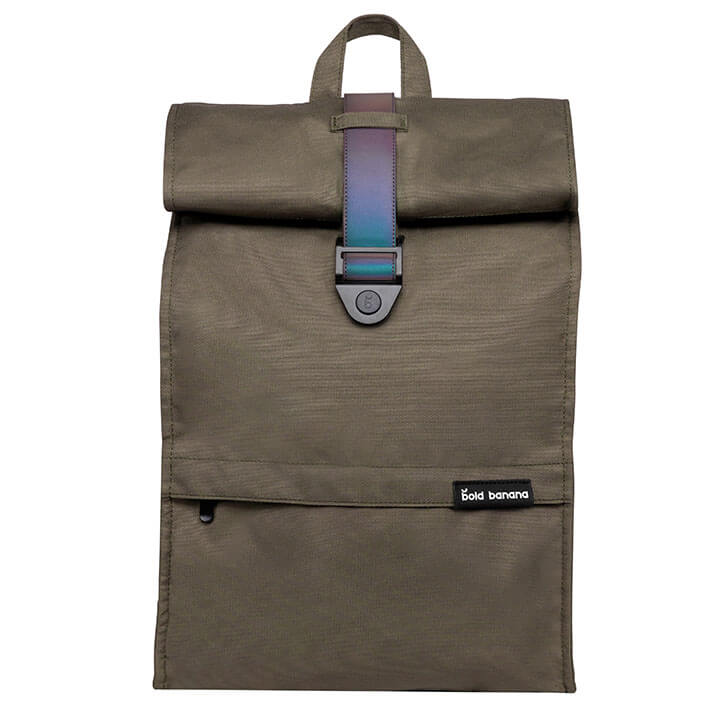Bold Banana Roll Top Backpack Rugzak 15.6'' Green Reflex